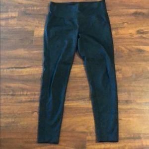 ATHLETA 7/8 black snake pattern leggings